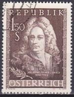 Austria/1956 - Fischer Von Erlach - 1.50 S - USED - 1945-.... 2. Republik