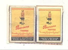 """Façade De Boîte D'allumettes """" Bensons """" Toffee  , 2 Pièces , Bonbon Caramel,...Etiquette  (rmt) - Boites D'allumettes - Etiquettes"""