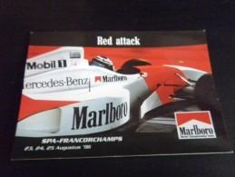 Carte Postale - F1 - Formule 1 - SPA FRANCORCHAMPS 1996 MERCEDES BENZ MARLBORO - Automobile - F1