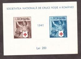 Roumanie - 1941 - BF 7 - Neuf (*) - Croix-Rouge - Blocks & Sheetlets