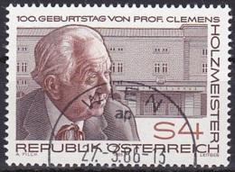 Austria/1986 - Prof. Clemens Holzmeister - 4 S - USED - 1981-90 Gebraucht
