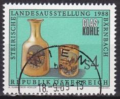 Austria/1988 - Styrian Glass & Coal Exhib./Steirische Landesausstellung Glas Und Kohle - 4 S - USED - 1981-90 Gebraucht