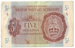 British Military Authority 5 Shillings 1943 - Autorità Militare Britannica