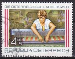 Austria/1991 - World Of Work 5th Series/Arbeitswelt Textilarbeiterin - 4.50 S - USED - 1945-.... 2. Republik