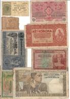 Europe Lot 8 Old Banknotes 1910-1940 - Billets
