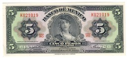 Mexico 5 Pesos 08/11/1961 UNC .C4. - Mexique