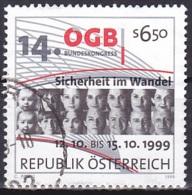 Austria/1999 - Austrian Trade Unions Cong./Österreichischer Gewerkschaftsbund - 6.50 S - USED - 1945-.... 2. Republik