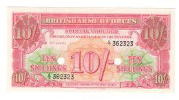 Great Britain - Military 10 Shillings 3th Series 1956  UNC .C. - Forze Armate Britanniche & Docuementi Speciali