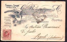 F3292  - TESTATINA COMMERCIALE G. BOURNIQUE - 1900-44 Victor Emmanuel III