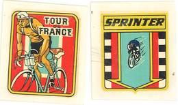2 Décalcomanies – Tour De France / Sprinter, Cyclisme, Cycliste - Other Collections