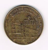 //   PENNING  KONINKLIJKE MUNT VAN BELGIE MUZIEKINSTRUMENTENMUSEUM MIM 2007 - ARTHUS BERTRAND - Souvenirmunten (elongated Coins)