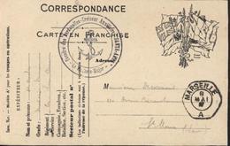 Guerre 14 Armée D'Orient Drapeaux Cachet Escadre Dardanelles Croiseur Auxiliaire Santa Anna Médecin Major Marseille 1917 - Marcophilie (Lettres)