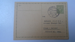 D166511  Czechoslovakia -Entier  Postal Stationery - Ganzsache - Nove Mesto Nad Metuji  1938 - Briefe U. Dokumente