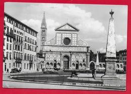 CARTOLINA VG ITALIA - FIRENZE - Basilica E Piazza Di S. Maria Novella - 10 X 15 - 1960 SPEDIZIONE DEI MILLE - Firenze