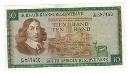 South Africa, 10 Rand. P-114 (1966) VF/XF - South Africa