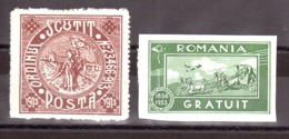 Roumanie - Franchise - N° 1 Et 2 - Neufs * - Franchise