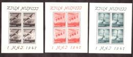 Roumanie - 1947 - PA N° 39 à 41 En Feuillets De 4 - Neufs (Charnières Hors Timbres) - Commémoration Du 1er Mai - Unused Stamps