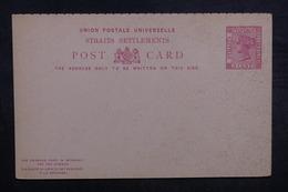 STRAITS SETTLEMENTS - Entier Postal Non Circulé - L 37914 - Straits Settlements