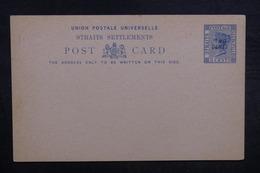 STRAITS SETTLEMENTS - Entier Postal Surchargé Non Circulé - L 37915 - Straits Settlements