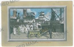 RO 60 - 11459 GIURGIU, Romania, Harbor, Ship, Carts - Old Postcard - Used - 1911 - Rumänien