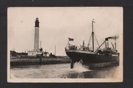 CPSM Pf. Dépt.59. DUNKERQUE . Le Phare . Navire Quittant Le Port . - Dunkerque
