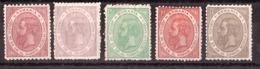 Roumanie - 1891 - N° 90 à 94 - Neufs * - 25 Ans Du Gouvernement De Charles Ier - Cote + 40 - Unused Stamps