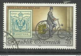 Österreich 2222I Zur WIPA 2000,25+13 Briefm Österreich Mit Wappenzeichnung U. Historischem Postdreirad Gst. Mi.:5,50 &eu - 1945-.... 2ème République