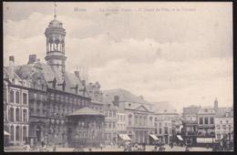 00122 - Mons, La Grande Place - L'Hotel De Ville Et La Theatre - Mons