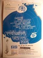 Format Carte Postale Spectacle - Programme Annuel De Premiers Gestes (Format 11X15 Cmnon Circulée) - Unterhaltung