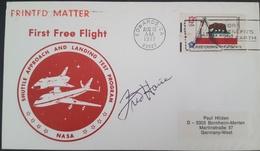 - US - AUTOGRAPHE ASTRONAUTE FRED HAISE - FIRST FREE FLIGHT (APOLLO XIII) - FDC & Conmemorativos