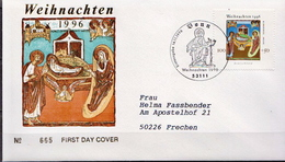 Postal History: Germany Used FDC - Christmas