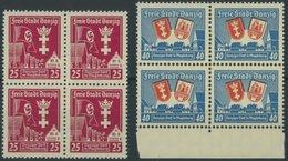 FREIE STADT DANZIG 274/5  VB **, 1937, Danziger Dorf In Viererblocks, Postfrisch, Pracht, Mi. 140.- - Danzig
