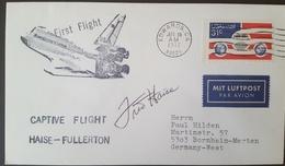 - US - AUTOGRAPHE ASTRONAUTE FRED HAISE - FIRST FLIGHT (APOLLO XIII) - FDC & Conmemorativos