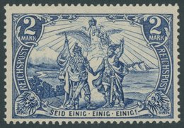 Dt. Reich 64I *, 1900, 2 M. Reichspost, Type I, Falzrest, Pracht, Mi. 140.- - Deutschland