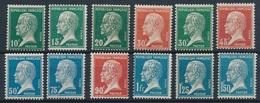 """DA-37: FRANCE: Lot """" PASTEUR"""" 170/181** - 1922-26 Pasteur"""