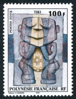 POLYNESIE 2003 - Yv. 698 **   Faciale= 0,84 EUR - Tableau Le Tiki, Par A. Marere  ..Réf.POL24185 - Französisch-Polynesien
