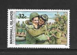 MARSHALL 1995 SECONDE GUERRE-JONCTION DES TROUPES AMERICAINES ET RUSSES  YVERT N°559  NEUF MNH** - Seconda Guerra Mondiale