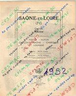 ANNUAIRE - 71 - Département Saône Et Loire - Année 1952 - édition Didot-Bottin - 154 Pages - Telephone Directories