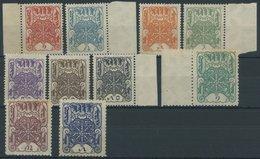 TUWA 1-10 **, 1926, Rad Der Ewigkeit, Gummi Teils Etwas Gebräunt, Sonst Prachtsatz - Tuva