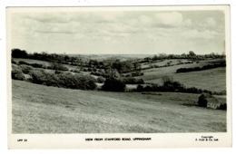 Ref 1314 - Real Photo Postcard - View From Stamford Road Uppingham - Rutland - Rutland