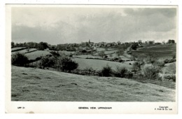 Ref 1314 - Real Photo Postcard - General View Of Uppingham - Rutland - Rutland