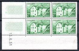 ANDORRE - YT N° 126 Bloc De 4 Coin Daté - Neufs ** - MNH - Cote: 42,50 € - Neufs