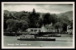 Ref 1314 - Real Photo Postcard - Wateredge Hotel Ambleside Boat - Lake District Cumbria - Cumberland/ Westmorland