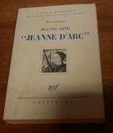 Jeanne Dite Jeanne D'Arc. Henri Guillemin. 1970. - Histoire