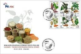 TURKEY/2018 - (FDC) PULSES THEME DEFINITIVE STAMPS, MNH - Nuevos