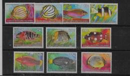Serie De Cocos Nº Yvert 40/49 ** PECES (FISHES) - Kokosinseln (Keeling Islands)