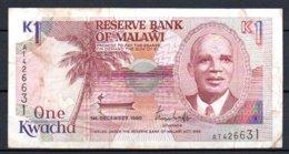 329-Malawi Billet De 1 Kwacha 1990 AT426 - Malawi