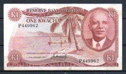 329-Malawi Billet De 1 Kwacha 1975 P449 - Malawi