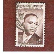 COSTA D'AVORIO (IVORY COAST) - SG 186 -   1959 PRESIDENT HOUPHOUET-BOIGNY  -  USED ° - Costa D'Avorio (1960-...)
