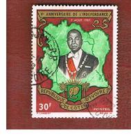 COSTA D'AVORIO (IVORY COAST) - SG 260 -   1959 PRESIDENT HOUPHOUET-BOIGNY  -  USED ° - Costa D'Avorio (1960-...)